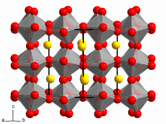 Crystal structure of natural perovskite.