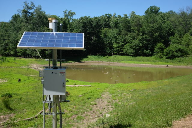 Remote, low power PV applications are possible—like this water monitoring station in Virginia.