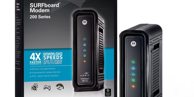 Brand New Arris//Motorola SB6121 DOCSIS 3.0 Cable  SURFboard Modem 200 Series