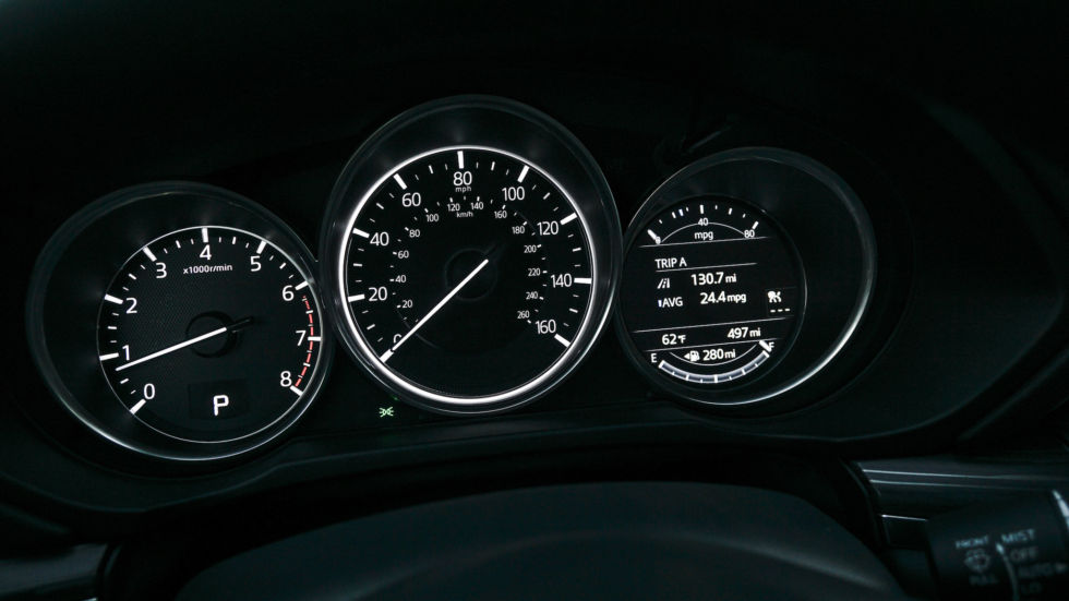 In addition to the 7-inch touchscreen, there's a multifunction display to the right of the speedometer.