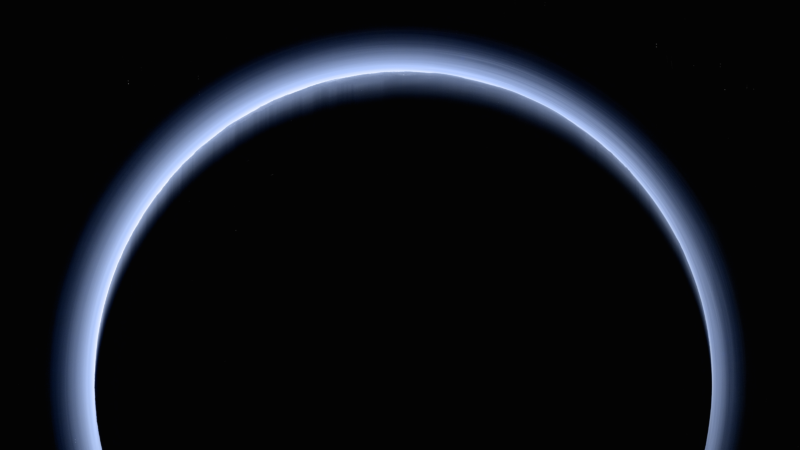 New Horizons' high-resolution farewell to Pluto.