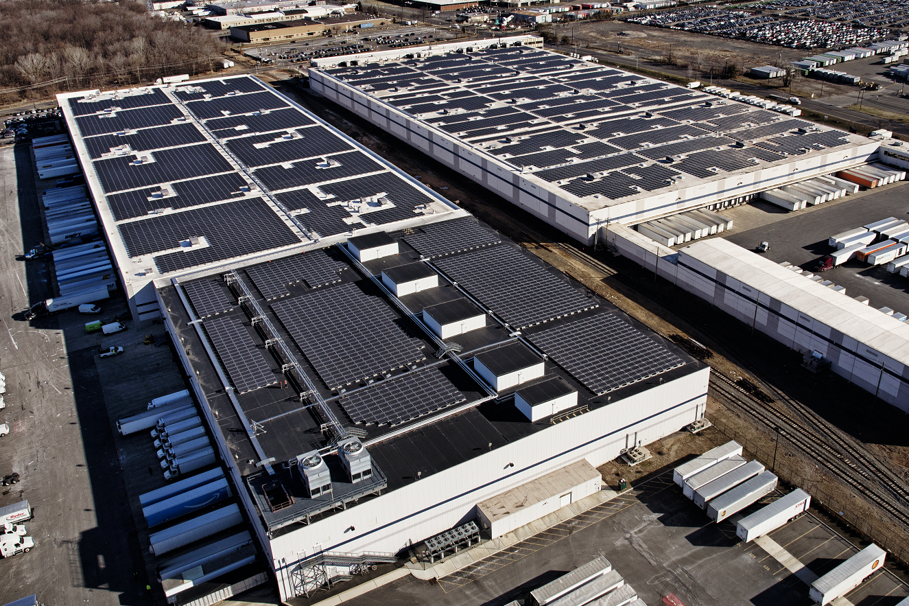 Amazon Pledges To Cover 15 Massive Warehouse Rooftops With