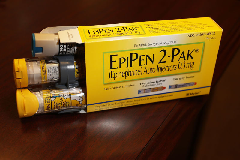 EpiPen two-pack.