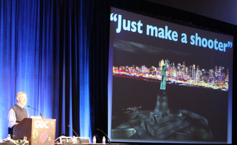 Warren Spector, speaking at GDC 2017, talked about rebuking game industry expectations during the creation of <em>Deus Ex</em>.