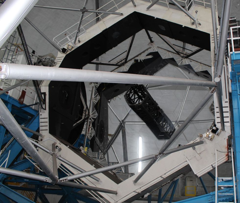 Thirty-six mirrors make up the primary mirror of each Keck telescope.