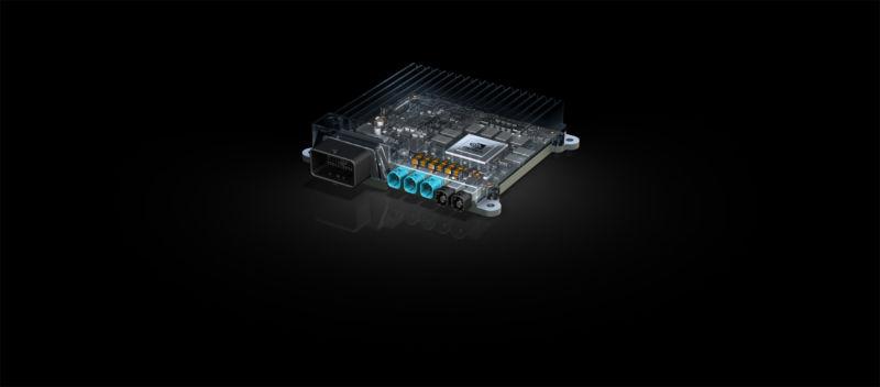 A cutaway image of the Bosch/Nvidia car supercomputer.