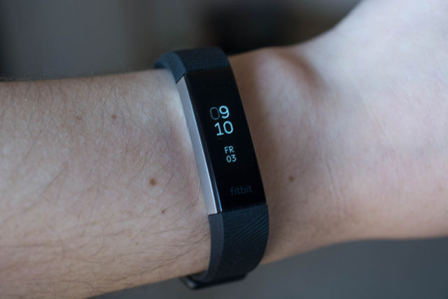 The Fitbit Alta HR.