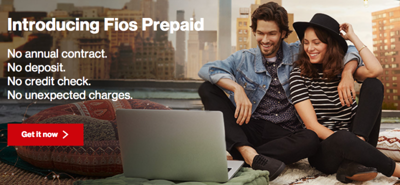 Verizon FiOS offers prepaid plan, no contract or credit check needed