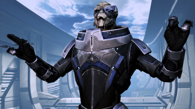 """I'm Garrus Vakarian, and you know what I'm going to say next."""