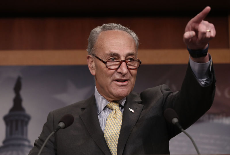 Senate Democratic Leader Chuck Schumer.