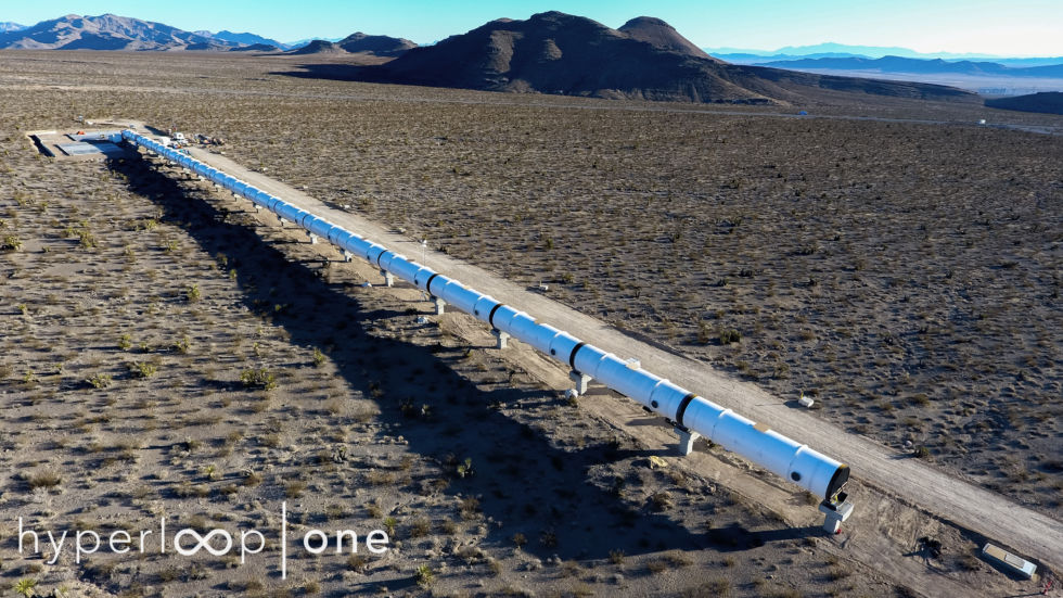 Photos of the 11ft-diameter Hyperloop test track under construction in Nevada