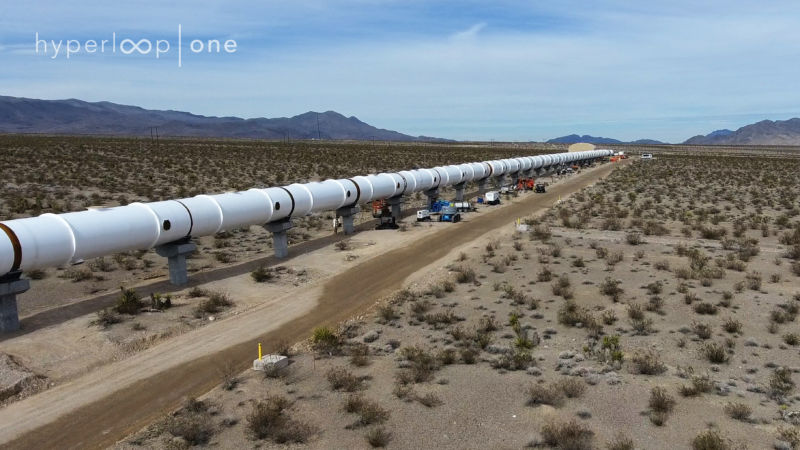 From early 2017, the Hyperloop One test track looked a lot like the one SpaceX <a href=