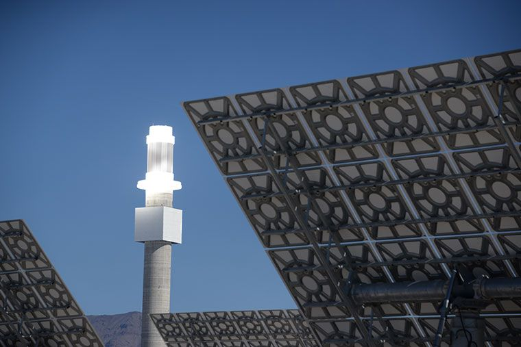 A solar thermal plant in the US.