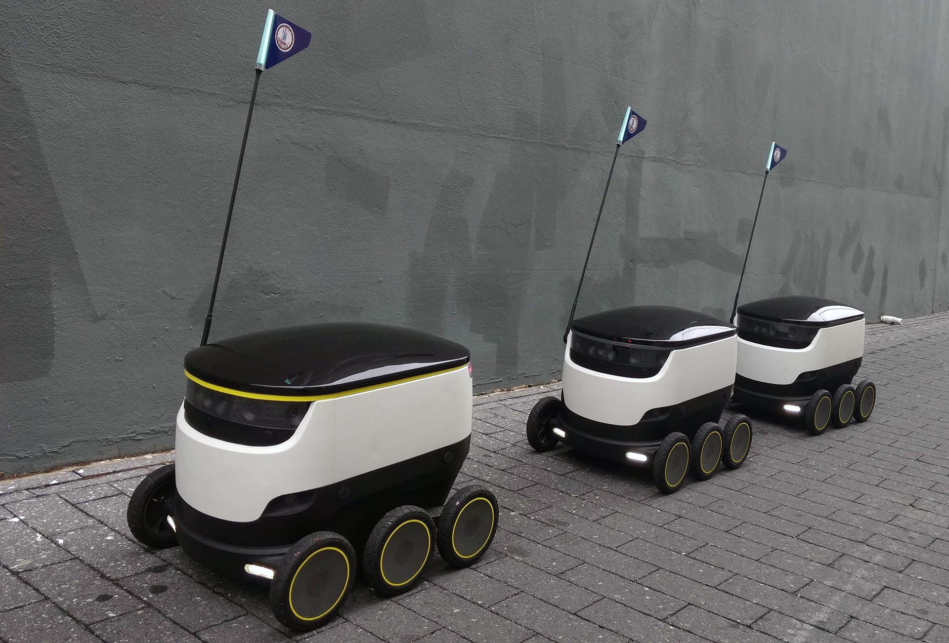 Starship Technologies' delivery robots.