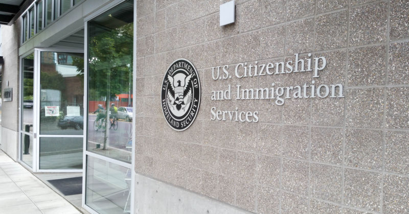 USCIS office in Portland, Oregon.