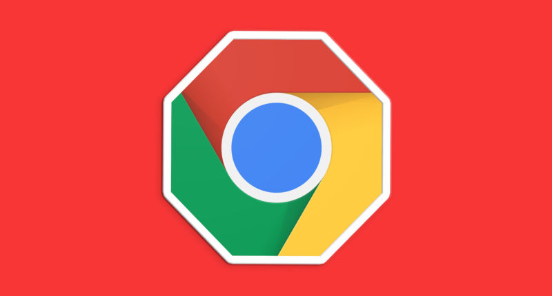 A totally not official rendering of what the Chrome Adblocker logo might look like.