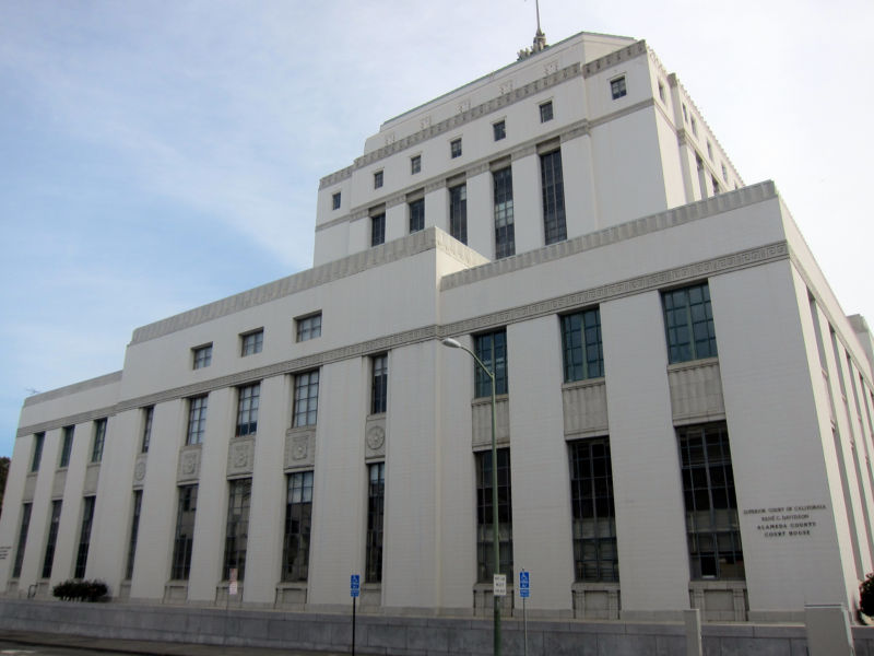 The René C. Davidson Courthouse, at 1225 Fallon Street, in Oakland, hosts the Alameda County Superior Court.
