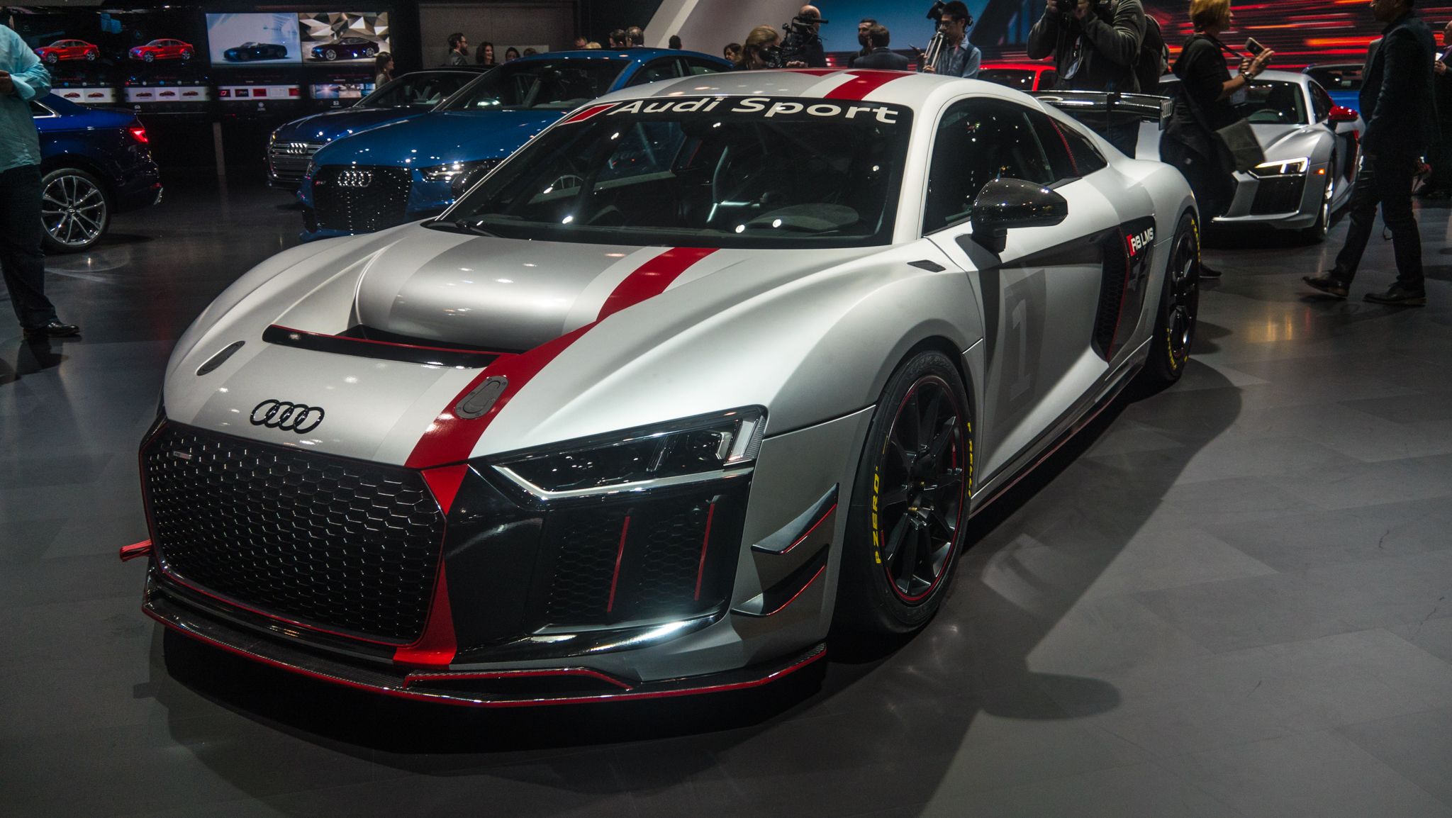 audi sport 39 s new gt4 race car was star of its ny international auto show motorarticles. Black Bedroom Furniture Sets. Home Design Ideas