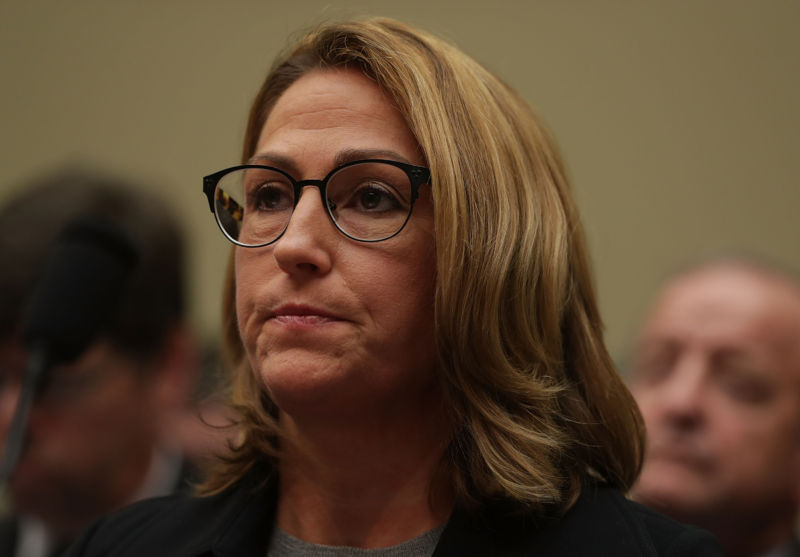 """Mylan Inc. CEO Heather Bresch testifies on Capitol Hill in a hearing on """"Reviewing the Rising Price of EpiPens."""""""