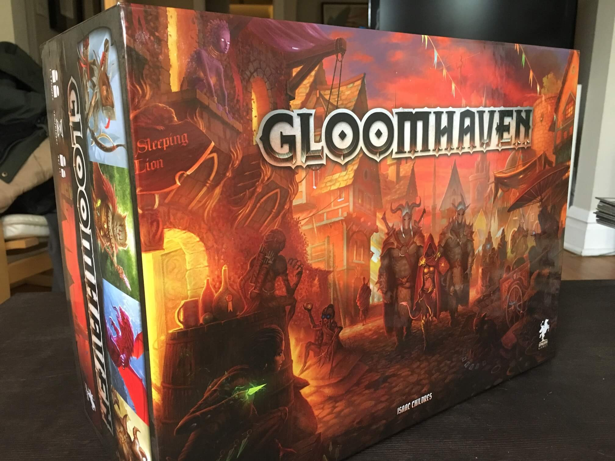 <em>Gloomhaven</em> is massive, both physically and mechanically, but it's an excellent dungeon crawl if you're willing to put the time into it.