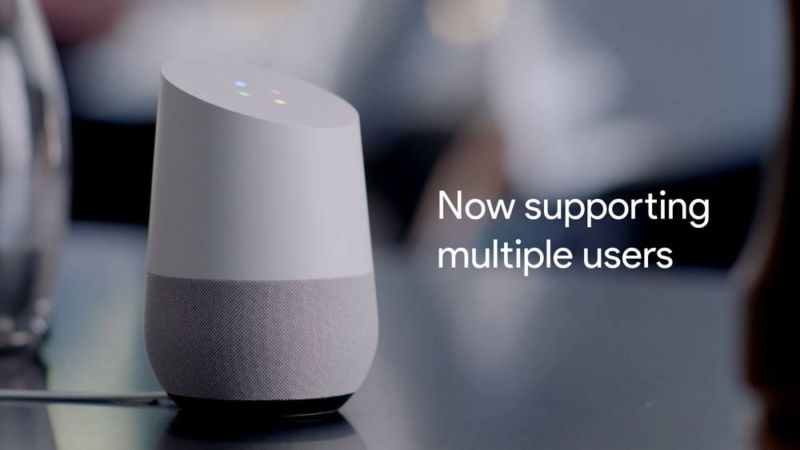 Google Home can now tell users apart just by their voice