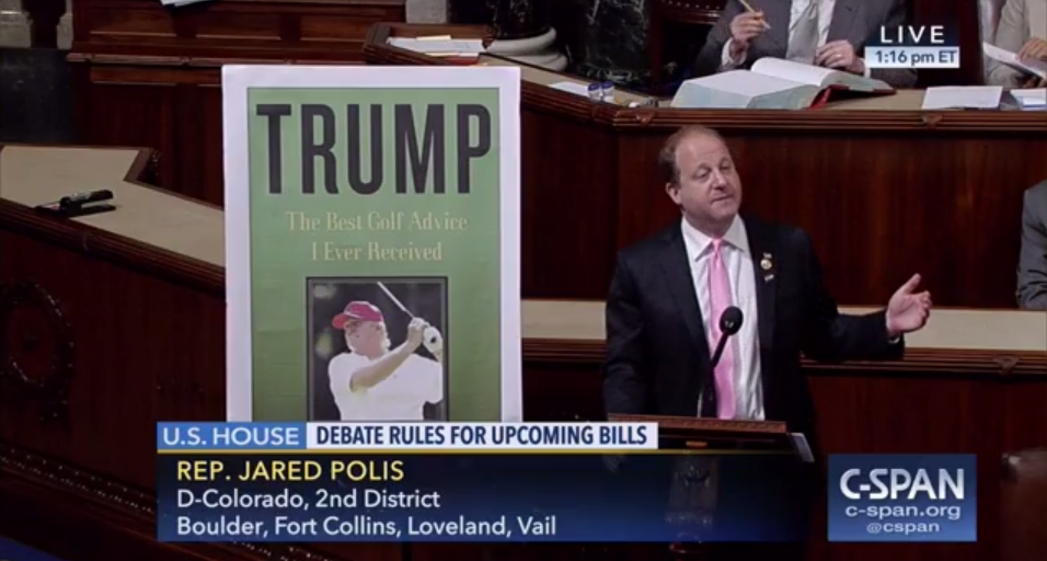 Rep. Jared Polis (D-Colo.) took the lead on the House floor speaking against the bill being debated today.