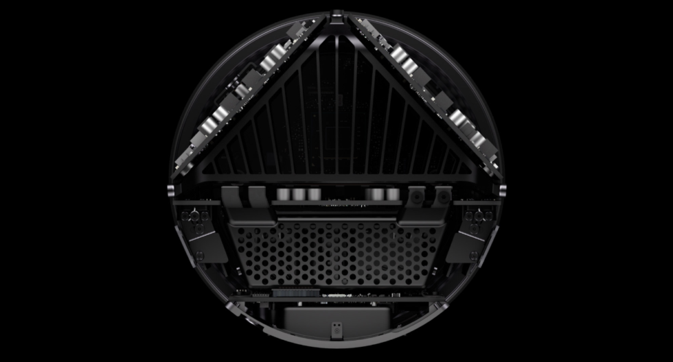 """The """"thermal core"""" concept the 2013 Mac Pro was designed around ended up being insufficiently flexible for future upgrades."""
