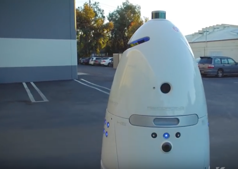 Man arrested after knocking over a 300-pound security robot