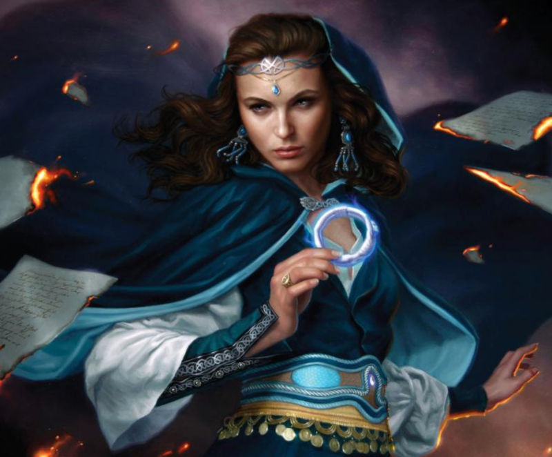 From the new cover created by Dan Dos Santos for <em>The Fires of Heaven</em>, book 5 of <em>Wheel of Time</em>.