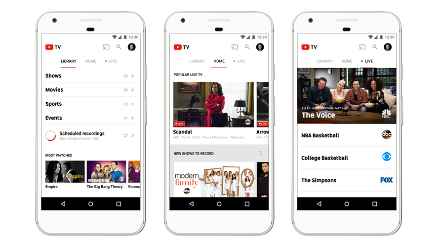 Youtube Tv Goes Live Today In Five Us Cities Gears Up To Add More