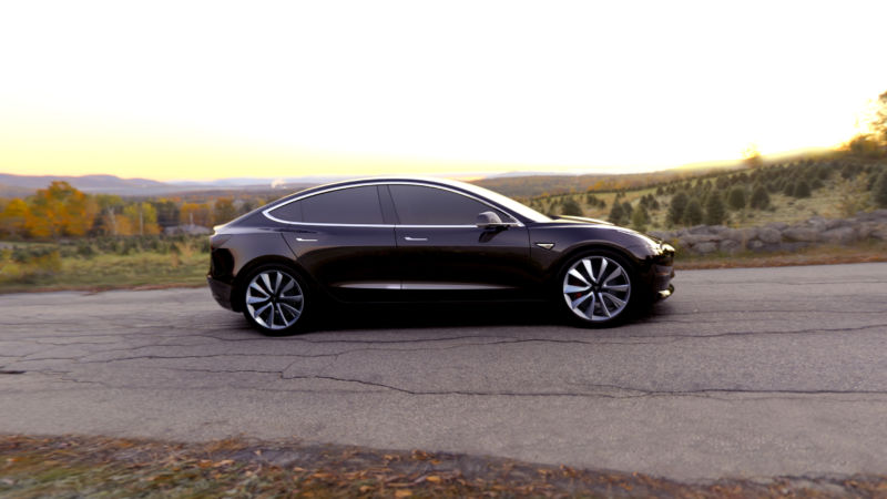 The Tesla Model 3. It's going to sell in massive volumes compared to the company's existing range, but will they make much money? Investors certainly think so.