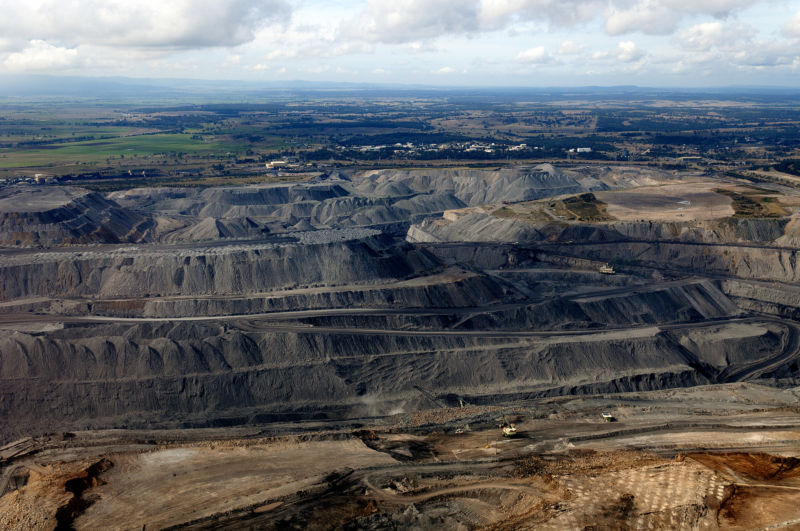 A coal mine in Australia. Burning this ancient sunlight could bring back ancient climates, too.