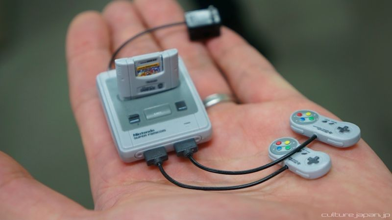 The actual SNES Mini probably won't be this small or have a cartridge slot. But we can dream...