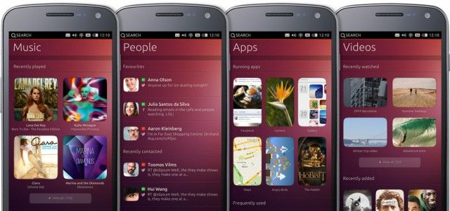 Ubuntu phone concept from January 2013.