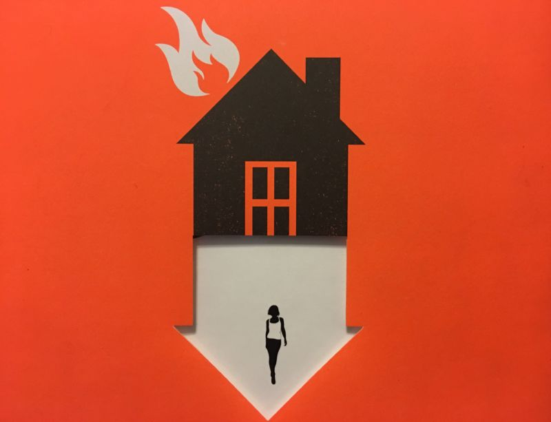 Let it burn: the cover of Cory Doctorow's <em>Walkaway</em>, a novel of building a new world from the ashes of the old post climate-apocylapse.