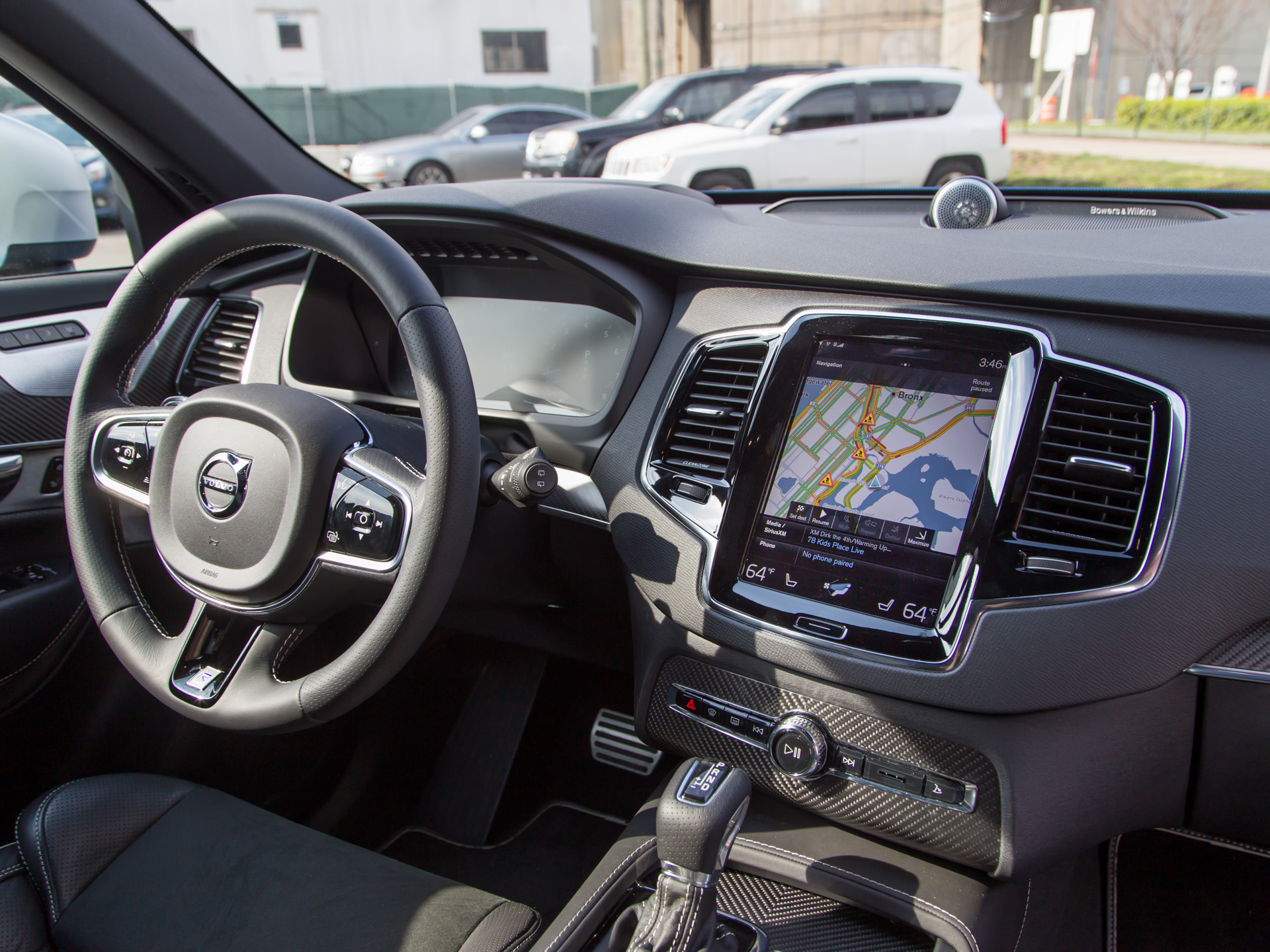The Volvo XC90 interior.