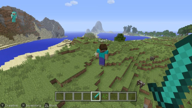 Minecraft on Nintendo Switch does the trick, hides most of its