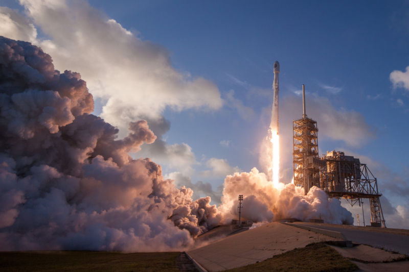 SpaceX launches the NROL-76 satellite for the National Reconnaissance Office on Monday morning.