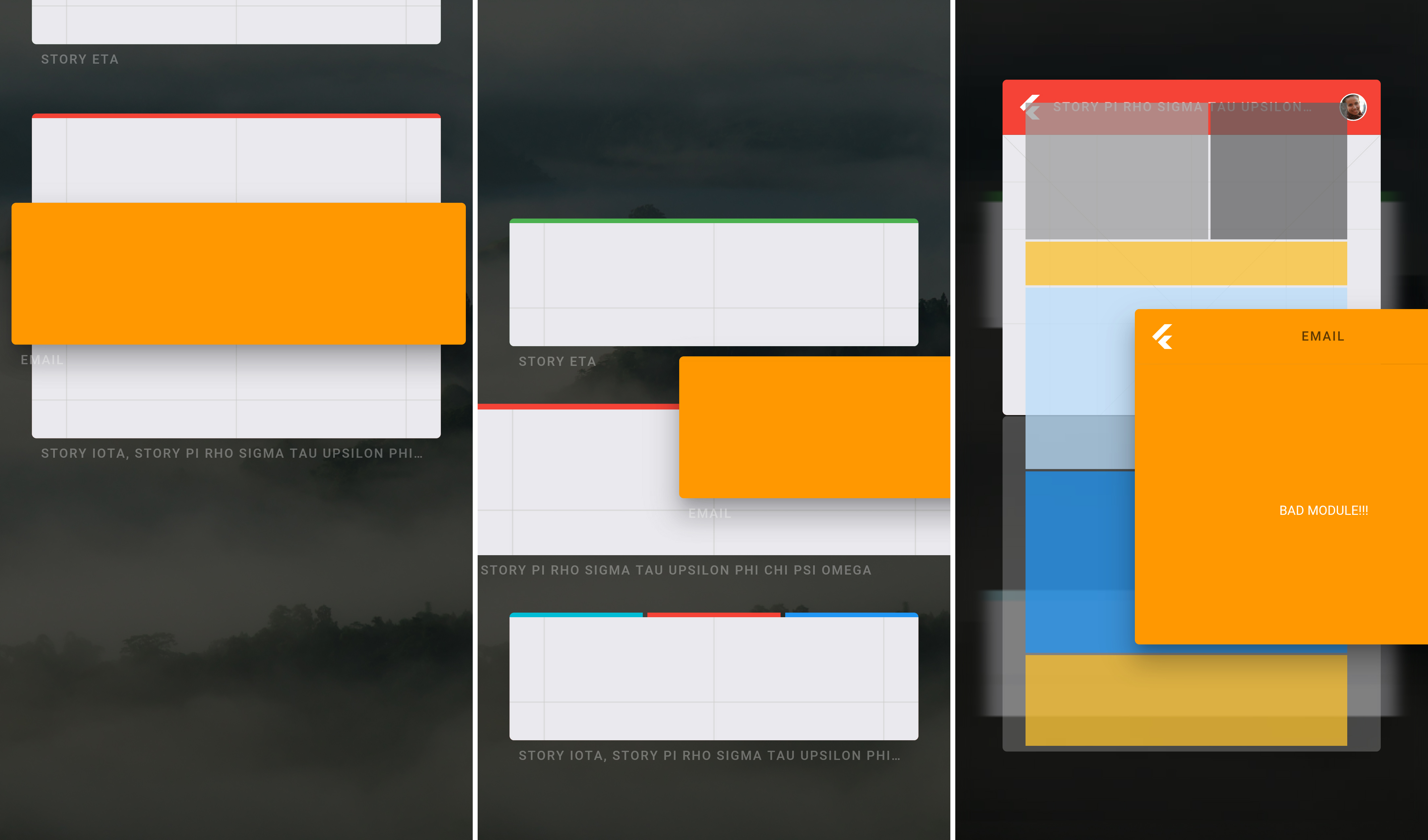 Fuchsia OS UI