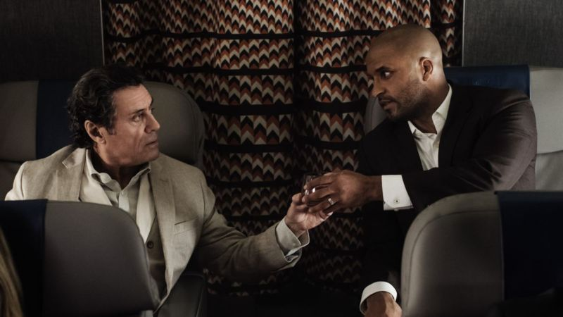 Wednesday (Ian McShane) meets Shadow (Ricky Whittle) under some extremely dark and mysterious circumstances.