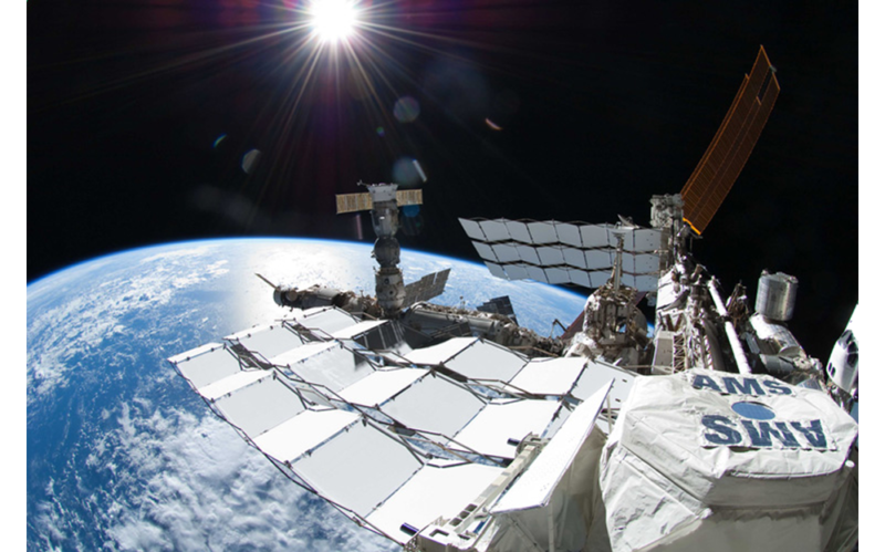 AMS aboard the International Space Station.
