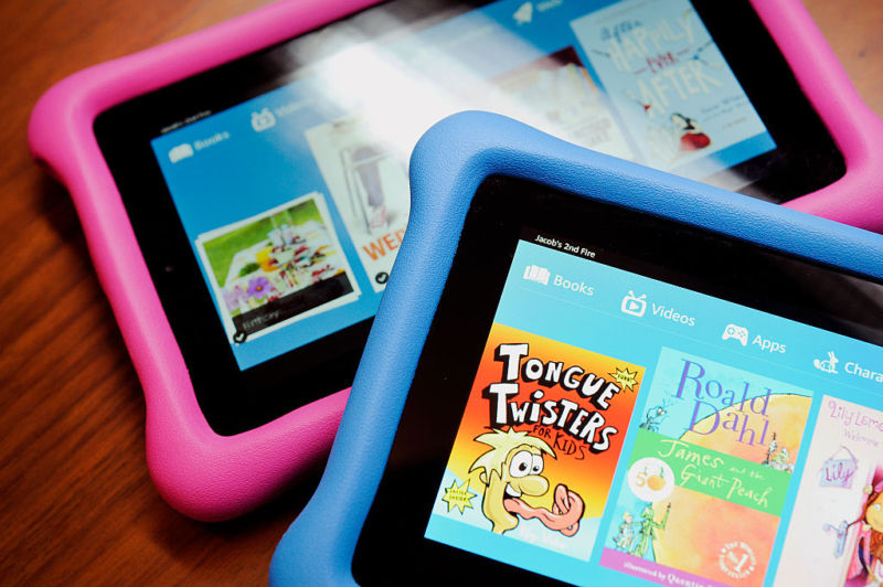 Amazon Kids Fire Edition tablet computers in 2015.