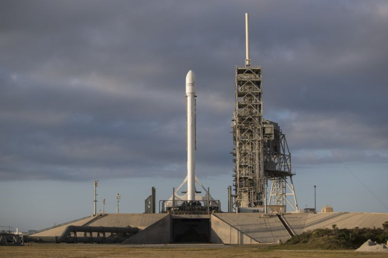 The Falcon 9 rocket is ready to go for Monday night's launch.
