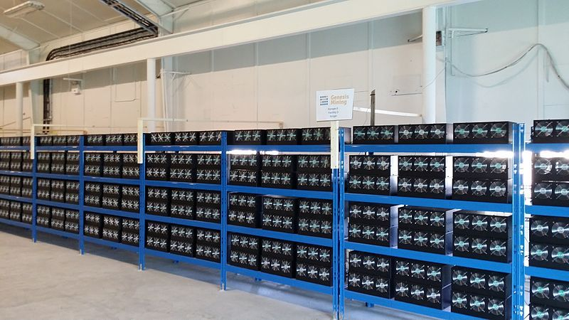 A cryptocurrency mining farm.