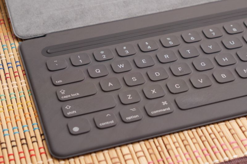 The iPad Pro Smart Keyboard.