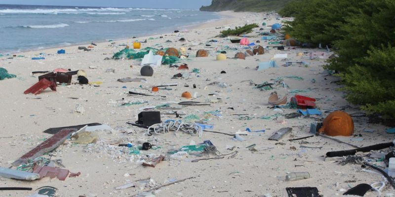 Remote Pacific island is the most plastic-contaminated spot yet surveyed