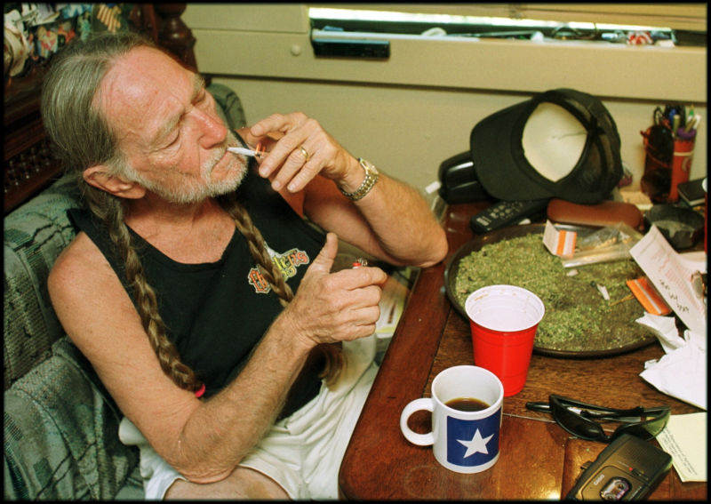 Maybe that's how Willie Nelson keeps performing at 84.