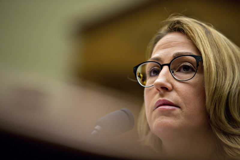 Heather Bresch, chief executive officer of Mylan NV, is questioned by lawmakers over why the company raised the price of the life-saving injection to $600 for a two-pack from $57 a shot.