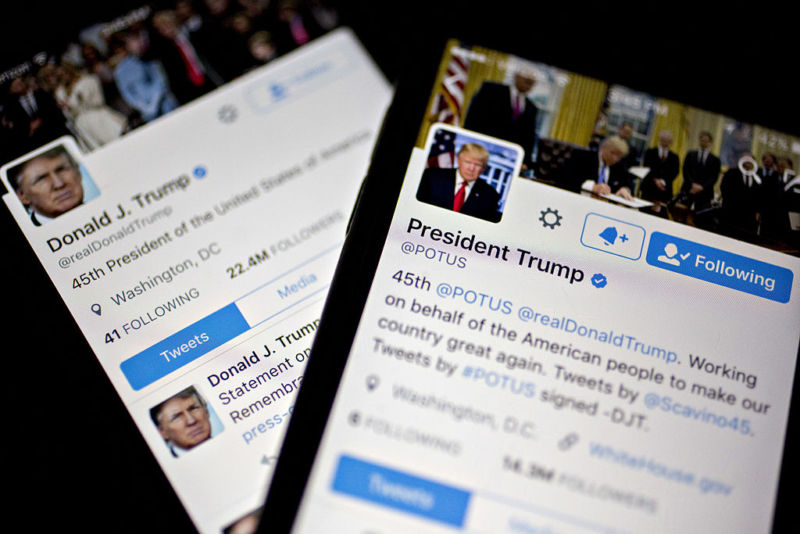 Trump has an iPhone with one app: Twitter