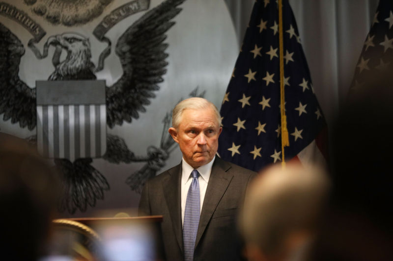 Attorney General Jeff Sessions has staunchly opposed legalizing marijuana.